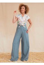 Palava Josephine - Chalk Blue Linen Trousers
