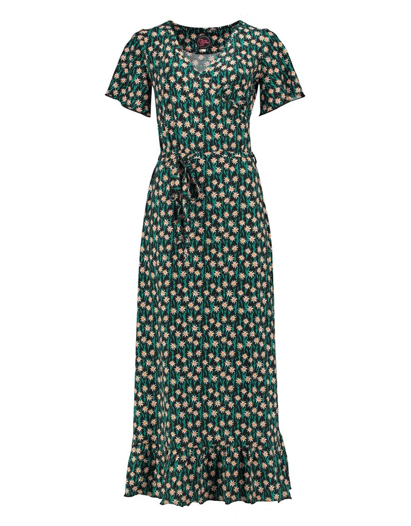 Tante Betsy Hippie Dress Long Edelweiss - Black