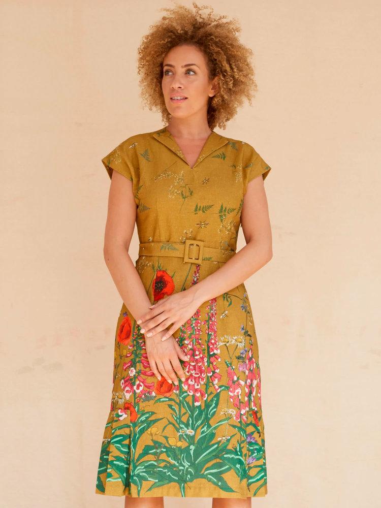 Palava Margo - Mustard Wildflowers dress