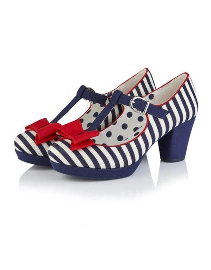 Ruby Shoo Jazz - Navy Stripe