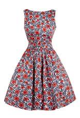 Lady V Tea Dress - Art Deco Floral