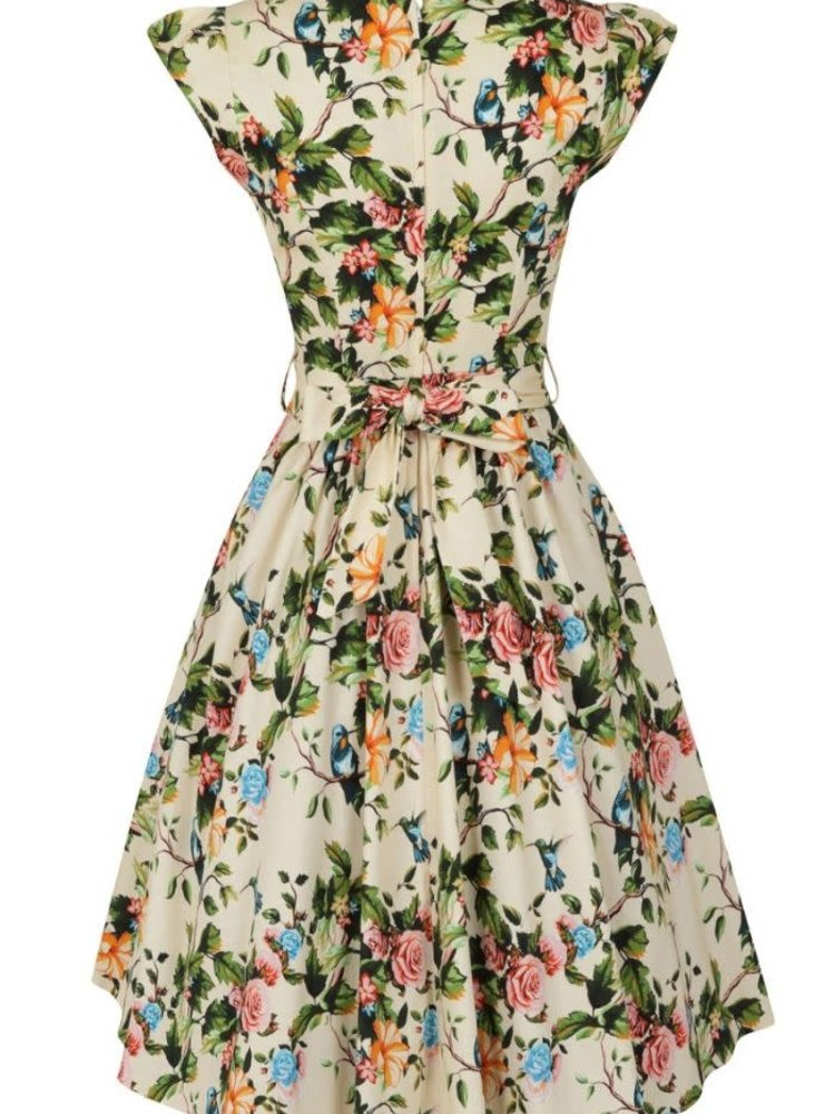 Lady V Swing Dress - Champagne Hummingbird