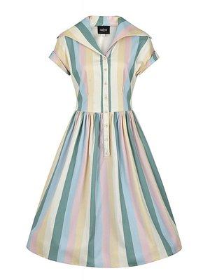Collectif Judy Teacup Stripe Swing dress