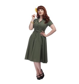 Collectif Caterina Dress - Olive