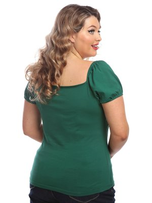 Collectif Dolores T-shirt - green
