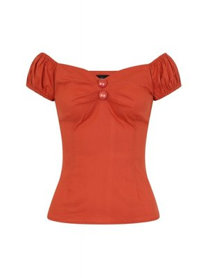 Collectif Dolores top vintage - Burned orange