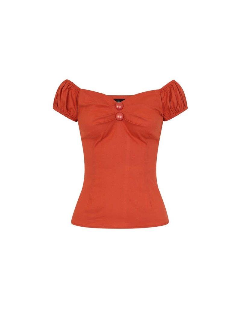 Collectif Dolores top vintage - Burned orange