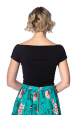 Banned Bow Wow Top - black