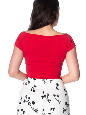 Banned Bow Wow top - Red