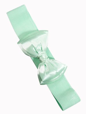 Banned Bow Belt - Mint