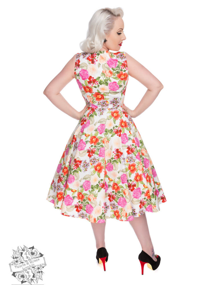 Hearts & Roses 50s Adelise Roses Swing Dress