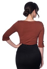Banned Oonagh top - brown