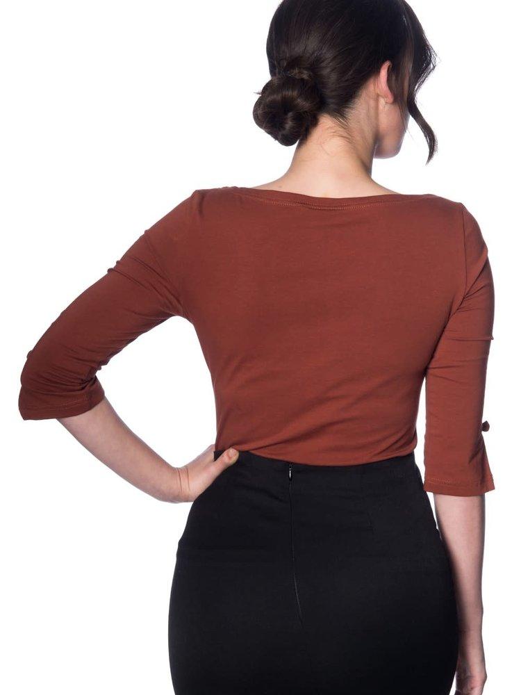Banned Oonagh top - brown