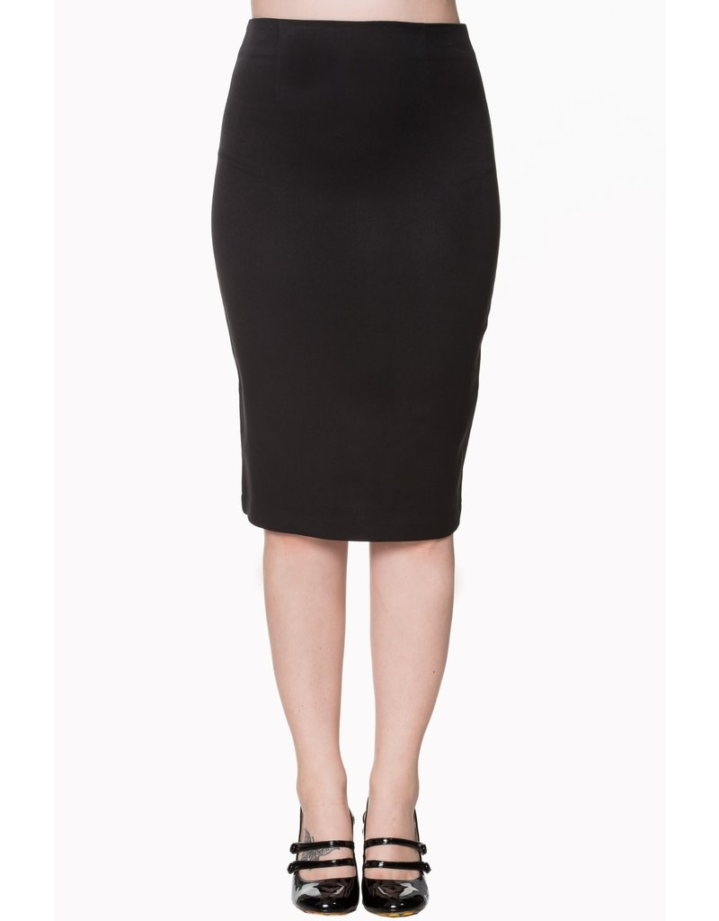 Banned Paula basic pencil skirt - black