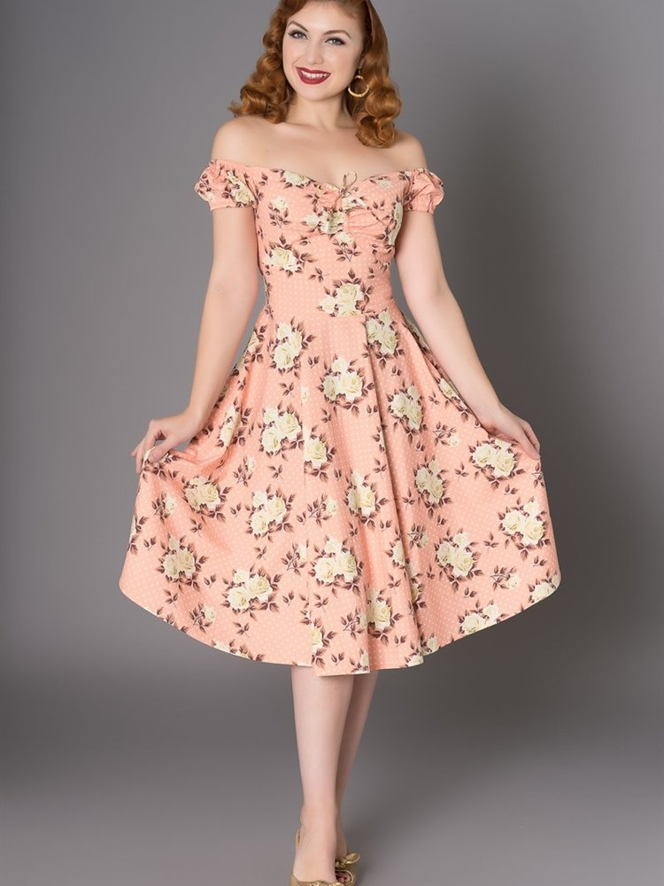 Sheen Amber 50s Swing Dress