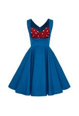 Dolly & Dotty Grace Dress Peacock Blue & Polka dots