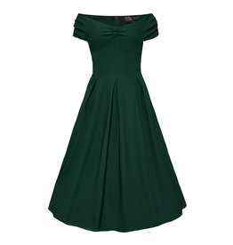 Dolly & Dotty Lily Off The Shoulder Dress Green
