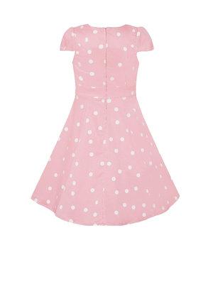 Dolly & Dotty Kids Claudia Polka Dot jurk in roze / wit