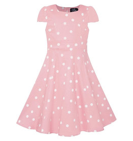 Dolly & Dotty Kids Claudia Polka Dot Dress In Pink/White