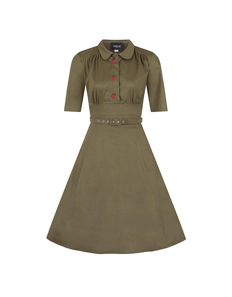 Collectif Doriane Strawberry Swing Dress