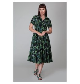 Collectif Mirtilla Black Forest Swing Dress