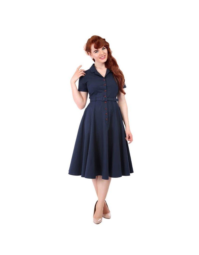 Collectif Caterina Vintage Swingjurk - blauw