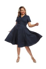 Collectif Caterina Vintage Swing Dress - blue