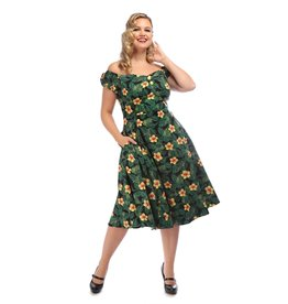 Collectif Dolores Tropical Hibiscus Dress