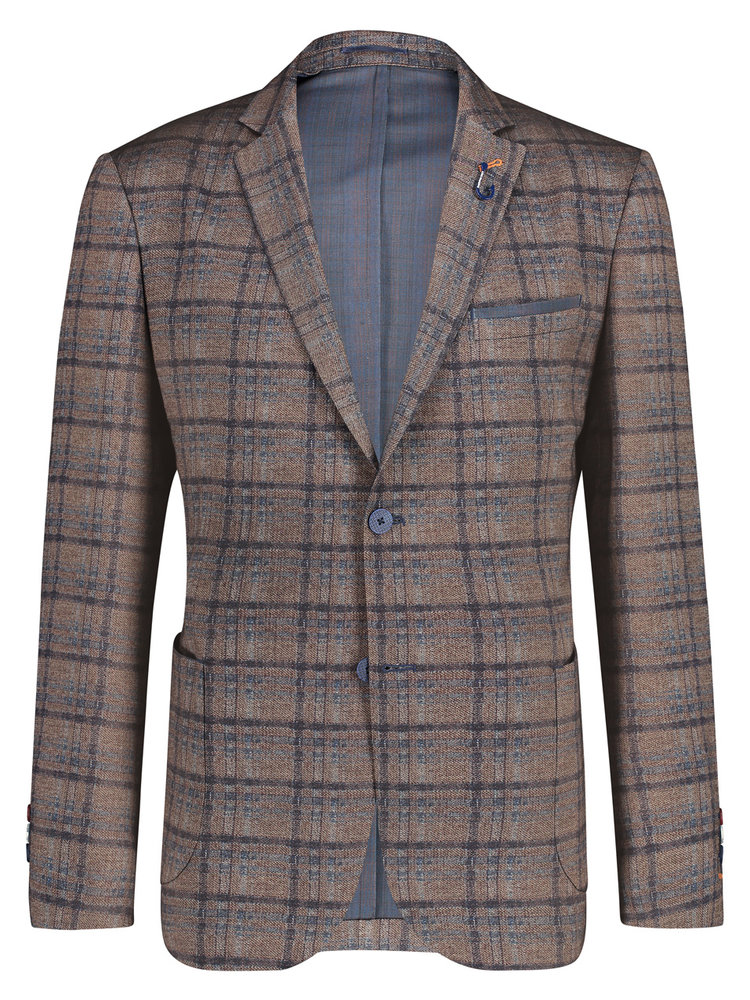 A Fish Named Fred Travel Blazer printed check