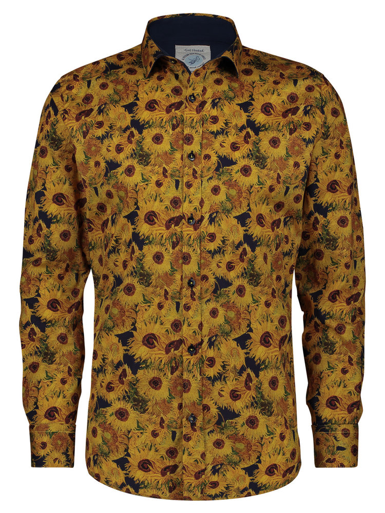 A Fish Named Fred Van Gogh sunflowers shirt