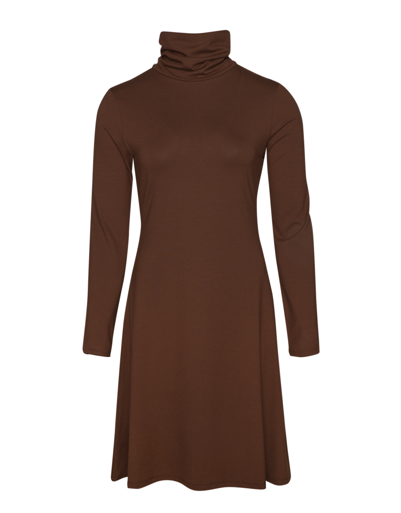 LaLaMour Turtle neck dress brown