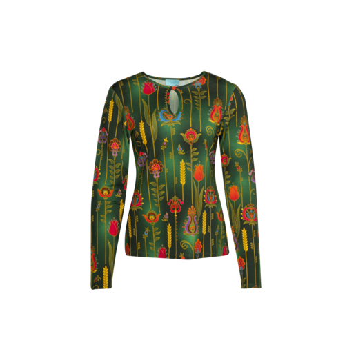 LaLaMour T-shirt High Neck folky