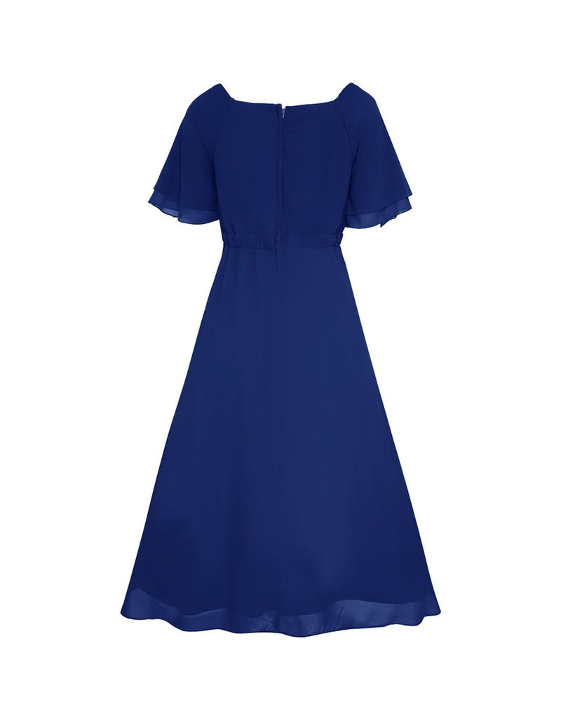 Dolly & Dotty Meredith Chiffon Dress in Navy
