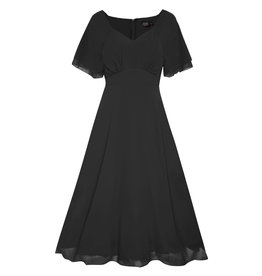 Dolly & Dotty Meredith Chiffon Dress in Black