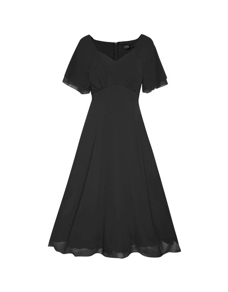 Dolly & Dotty Meredith Chiffon Dress in Black