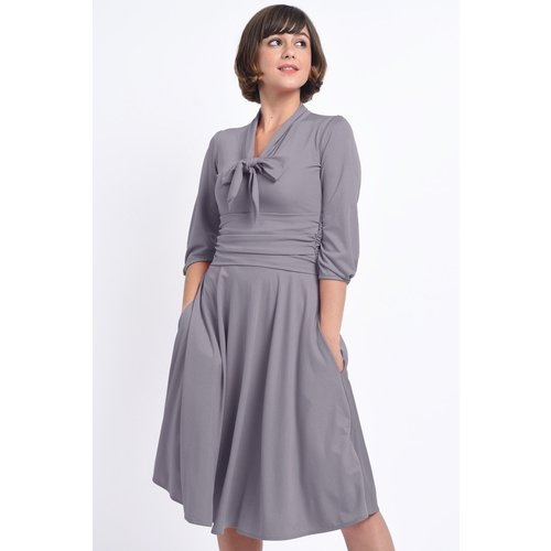 Dolly & Dotty Sandra Lavender Bow Tie Dress