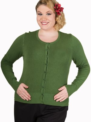 Banned Getaway Cardigan - Willow Green
