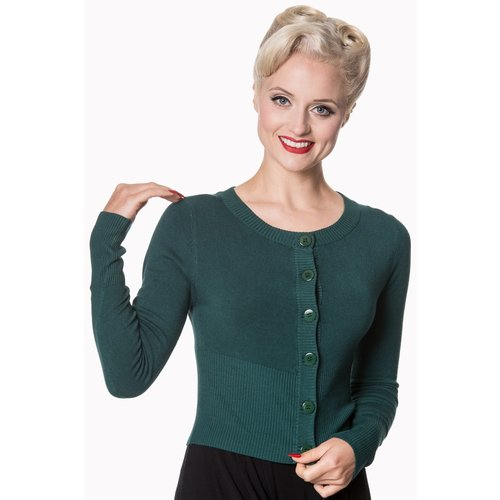 Banned Dolly Cardigan - Forest Green