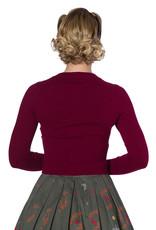 Banned Dolly Cardigan - Burgundy