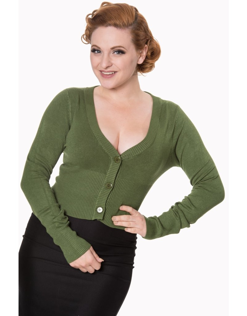 Banned Let's Go Dancing cardigan - Forest Green