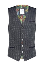 A Fish Named Fred Waistcoat small pattern navy