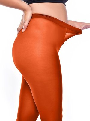 Pamela Mann 50 Denier Curvy Super Stretch Tights - Rust L-XXL
