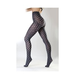 Pamela Mann Polka Dot printed tights - L-XXL