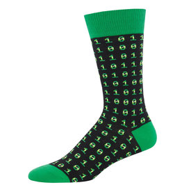 SockSmith Binary code mens socks