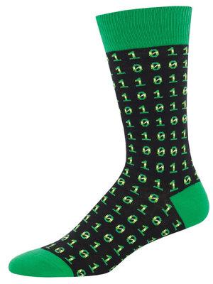 SockSmith Binary code mens socks