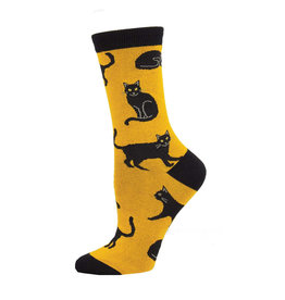 SockSmith Black Cat womens socks