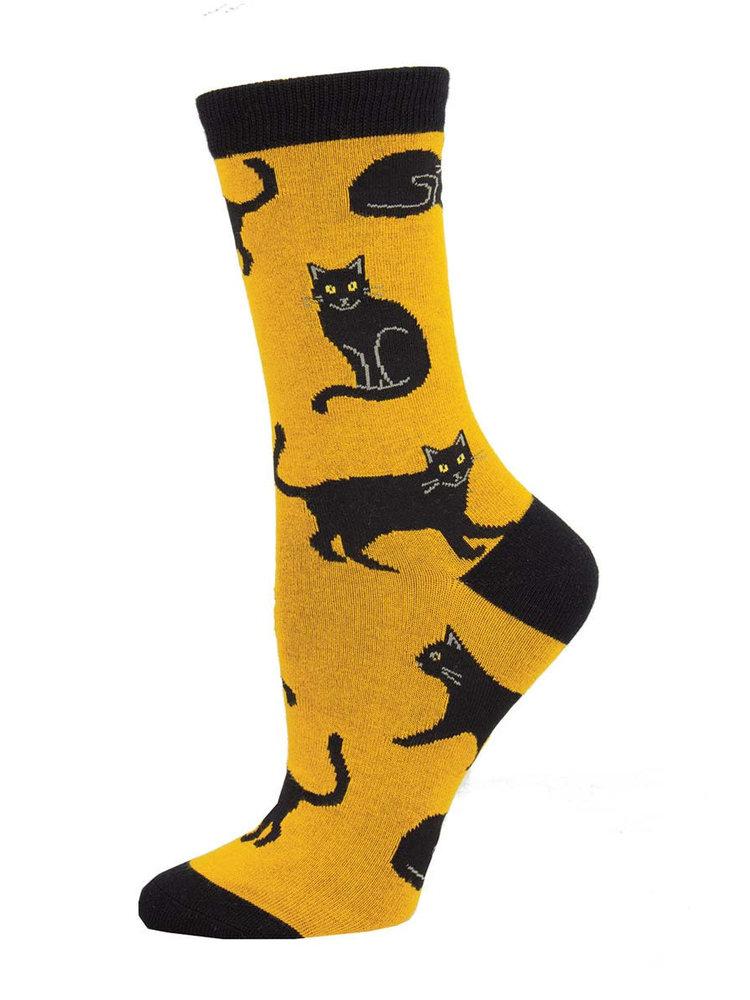 SockSmith Black Cat womens socks