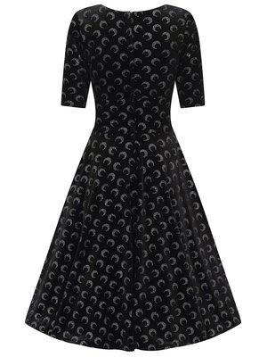 Collectif Trixie Glitter Moon Velvet Dress