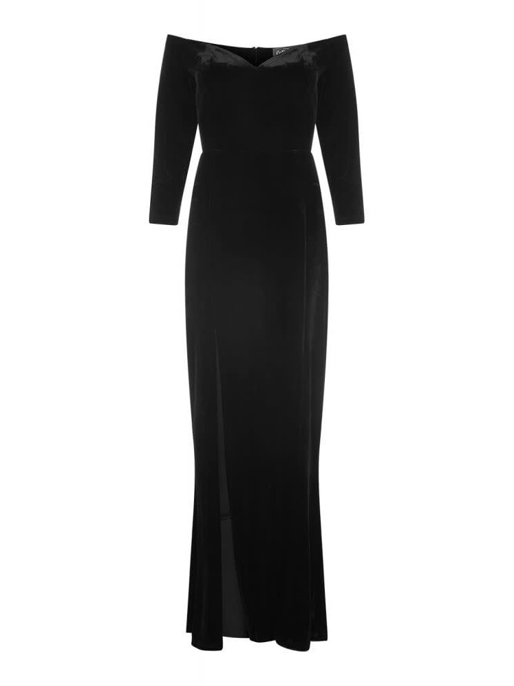 Collectif Anjelica Velvet Maxi Dress