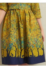 Palava Cynthia - Mustard Forest Dress